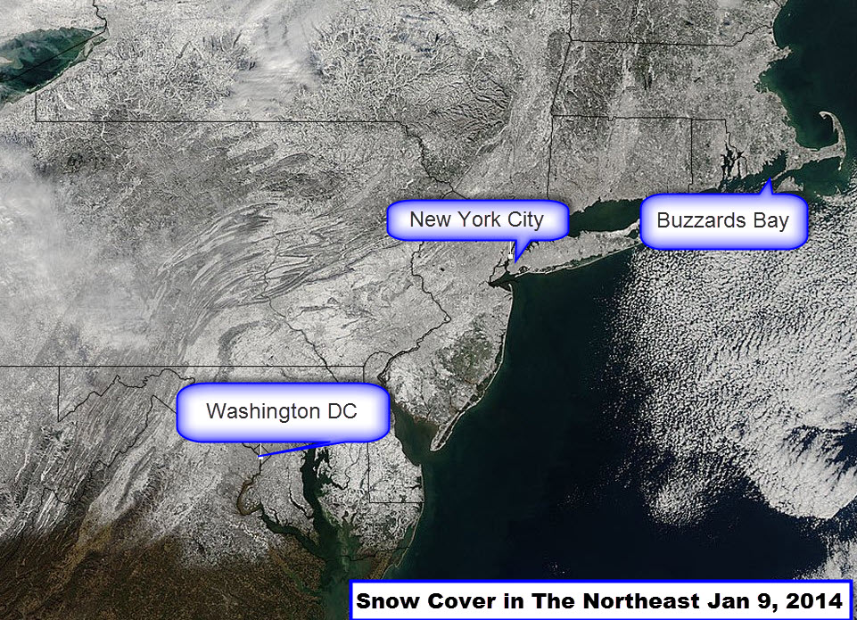 Snow Cover Jan 9, 2014